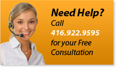 Heed Help? Call 416-922-9595 For Your Free Consultation Now!
